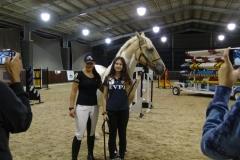 Alycia with fan