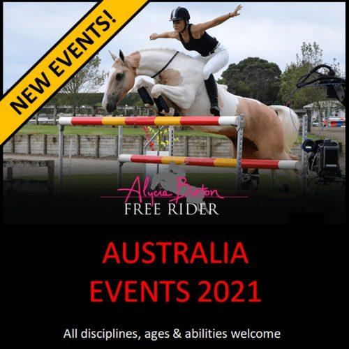 Alycia Burton Events- Australia 2021
